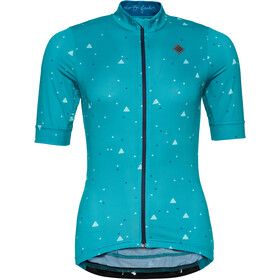 Triple2 Velozip Recycled Poly SS Jersey Women, lapis